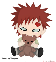 Gaara And Ruffy-Ruffy-Kun by Ataro-Chan