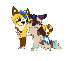 Zay and Blue by gone-from-deviantart