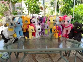 Build a Bear MLP Ponies Group Photo by NeysaNight