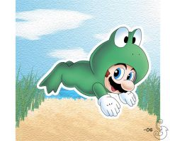 Frog Mario by Sting-Chameleon
