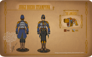 Commission Steampunk Judge Dredd by MecaniqueFairy