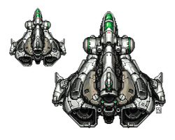 Pixel Spaceship by bossquibble