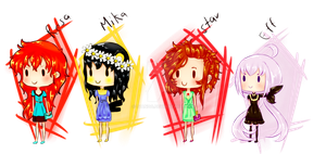 Chibi Dreses Ladies by ivando