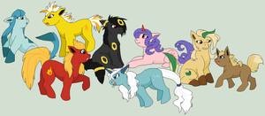 My little Eeveelutions by Kainaa
