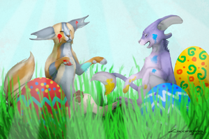 Spirits' First Easter by Likopinina