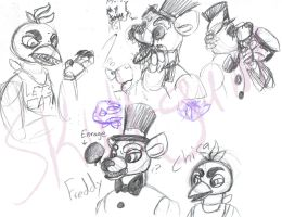 Five nights at Freddy's doodles by Skull-gum