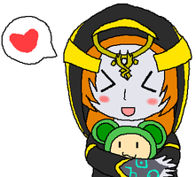 Midna and a Squeaker by PuffyTrousers