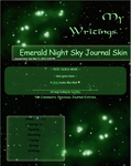 Emerald Night Sky Journal Skin by JeffrettaLyn