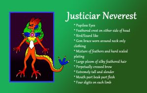 Justiciar Nevrrest Reference Sheet by SwanofWar