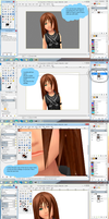 How I make hair realistic by Kohaku-Ume