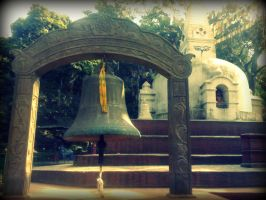 Bell at Swyambhu by Pramin