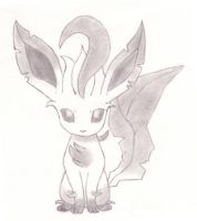 Leafeon sketch by CBuizel
