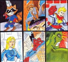 Sketch card samples by PlummyPress