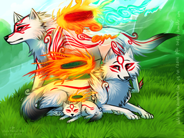 Three Sun Wolves by DOLFIY