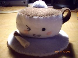 Coffee Cup Plushie by petalxrain