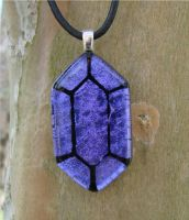 LoZ Purple Glass Rupee by FusedElegance