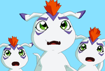 Group of Gomamon base by HeroHeart001