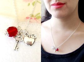 Snow white necklace or Twilight necklace by yael360