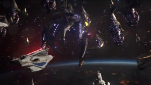 Mass Effect 3 - Engaging Reapers by SupermanLovesAspen