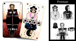 Queen of Hearts and Ace of Spades by TheLastWorshipper