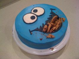 Cookie Monster by LickTheBowlBakery