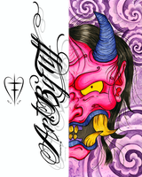 Hannya Collab - My Half by tifftoxic