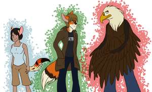 Therianthrope Concepts by tonylefruitbat