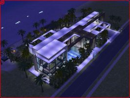 Sims 2 modern beach house by RamboRocky