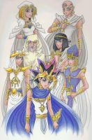 Pharaoh and His Priests by RyouGirl