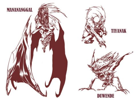 Filipino Mythical Creatures II by CaptainLuckypants