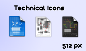 Technical Icons by camiloculpian