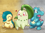 Johto: Choose your partner! by KiwiBeagle
