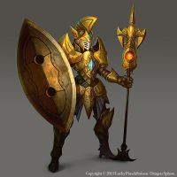 Gold Knight -Advanced lvl03- by Nekomancerz