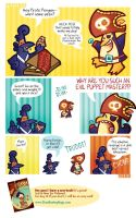 Pirate Penguin vs Pizza by raisegrate