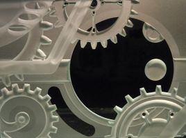 Moon turning steampunk gears by ImaginedGlass