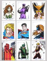 DC Legacy Sketch Cards C by tonyperna