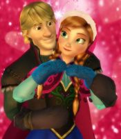 Kristoff and Anna by Simmeh
