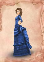 Victorian Era Costume Inspired Fashion Illustratio by BasakTinli