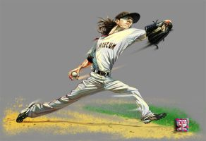 Tim Lincecum by A-BB