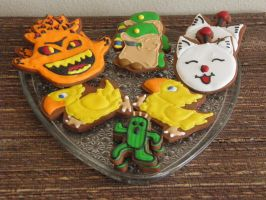 Final Fantasy Creature Cookie Set by Afina79