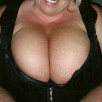 My new corset on tonight. by Cleavage3