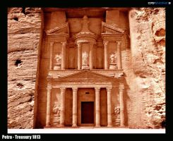 Petra Treasury 1813 Front by a1future