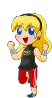 Chibi Wondergirl by Tangerinna