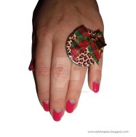 Leopard pattern with a bell :) by jewelryandstuff