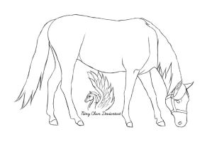 Horse Lineart 2 by Niny-Chan