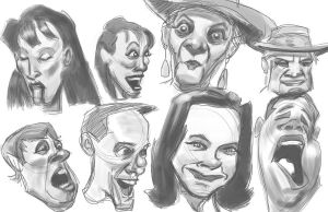 caricature expressions by JJ415