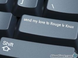 Knuxouge keyboard by DragonHeartPrincess