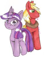 Big Macintosh+Twilight Sparkle by Lolly-pop-girl732