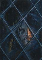 Aragorn at the Window by IngridKVHardy