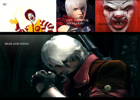 Dante vs Ronald McDonald by IceyTHORlover432